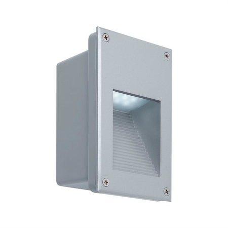 Treppenleuchte LED Paulmann Wall 2,4W 6500K IP44 Silber