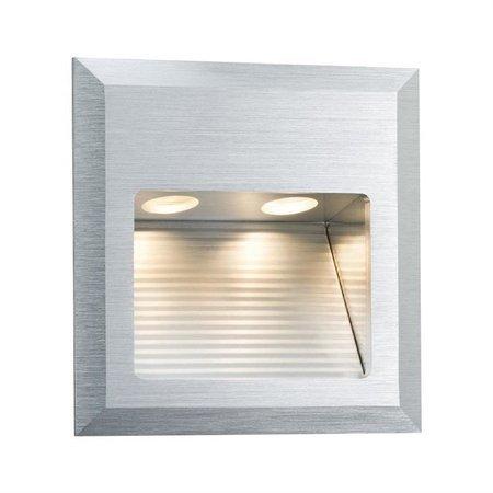Treppenleuchte Special Line Wall LED Quadro 2W 3000K 79lm Aluminium