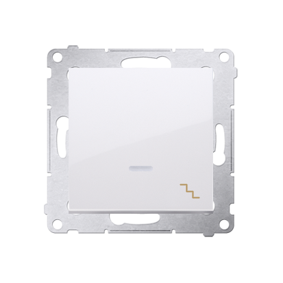 Treppenschalter (Modul) mit Aufdruck LED und Weiß Kontakt Simon 54 Premium DW6AL.01/11