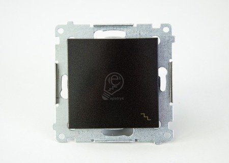 Treppenschalter (Modul) mit Aufdruck und Anthrazit Kontakt Simon 54 Premium DW6.01/48