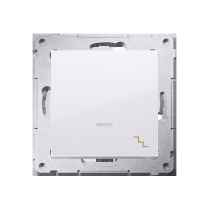 Treppenschalter (Modul) mit Aufdruck und Beleuchtung weiß Kontakt Simon 54 Premium DW6L.01/11