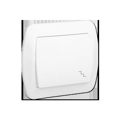 Treppentaster 1fach 10AX weiß glänzend Kontakt Simon AW6/11