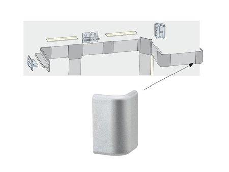 Verschlusskappe Duo Profil Endung 2er Pack Aluminium