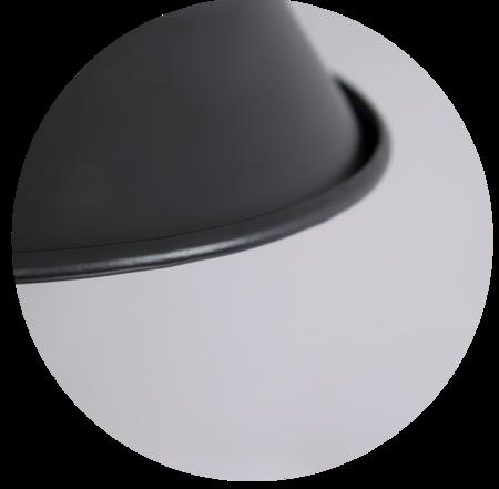 Wandleuchte LOFT AKRON E27 schwarz Messing EDO777184 EDO