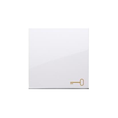 """Wippe 1 fach für Schalter/ Taster weiß glänzend mit Symbol """"Schlüssel"""" DKWK1/11"""