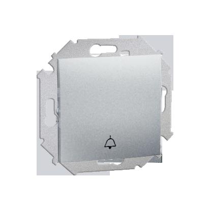 Wippe (Modul) 1fach mit Aufdruck Symbol Glocke mit Schraubklemmen IP44 Aluminium metalisch
