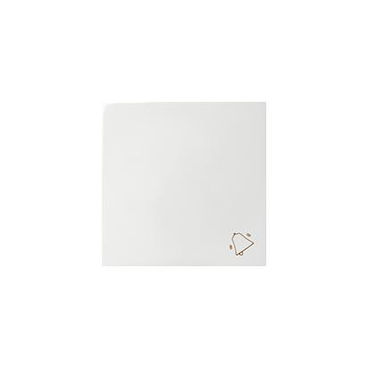 Wippe mit Symbol Klingel weiß glänzend 1fach Kontakt Simon 82  82017-30